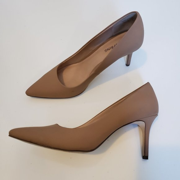 Matte Nude Pointy Toe Heels Call It Spring